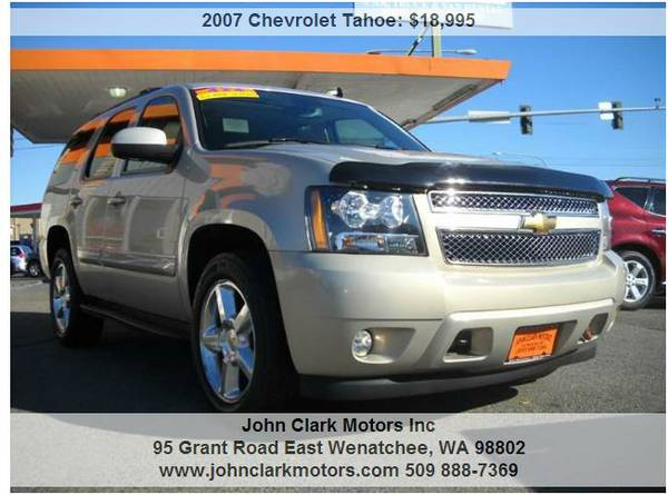 2007 CHEVY TAHOE LTZ 4X4...3RD SEAT...8 PASSENGER...LEATHER...DVD...