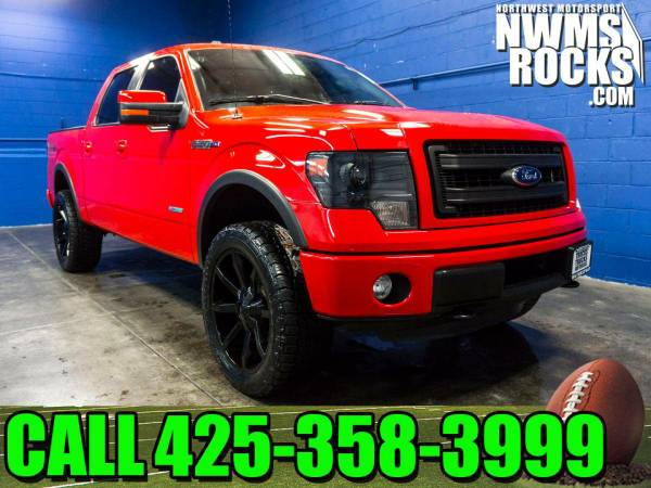 Lifted 2013 *Ford F150* FX4 4x4 - 2013 Ford F-150 FX4 4x4 Truck w/ Son