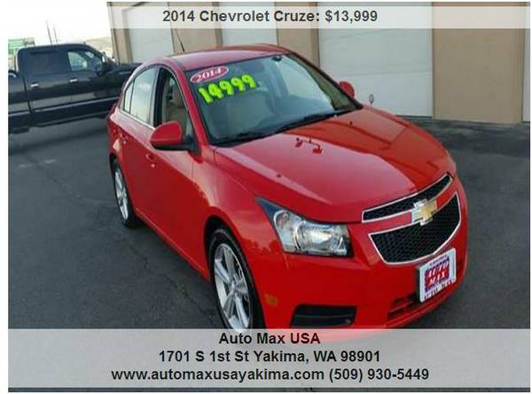 2014 Chevrolet Cruze 2LT WE HAVE 3 LEFT!!!!!!!!!!!!!!!!!!!!!!!!!!!!!!!