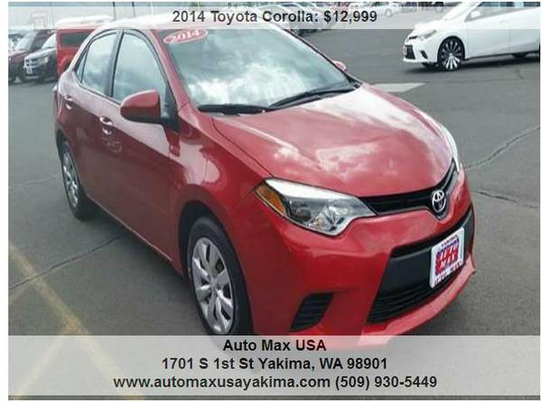 2014 Toyota Corolla LE HAVE 5 TO PICK FROM !!!!!!!!!!!!!!!!!!!!!!!!!!!