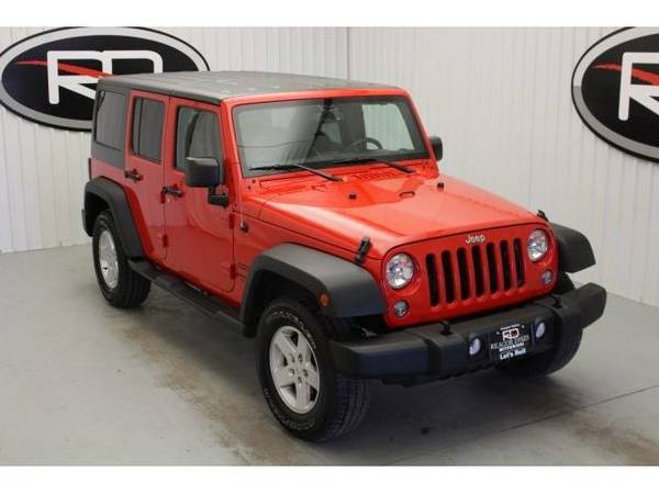 2015 *Jeep Wrangler* Unlimited Sport (Firecracker Red Clear Coat)