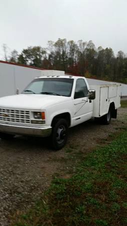 91 chevy C3500 utility tool service truck