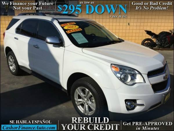 As Low as $295.00 Down* 2013 Chevrolet Equinox LTZ