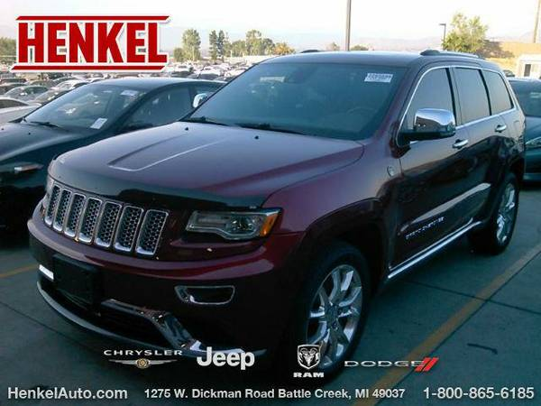 2014 *Jeep Grand Cherokee* Summit 4X4 - Deep Cherry Red Crystal...