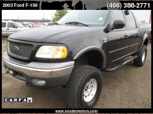 2003 Ford F-150 Supercrew XLT 4x4 Fabtech Lift! Clean New Tires ONLY...