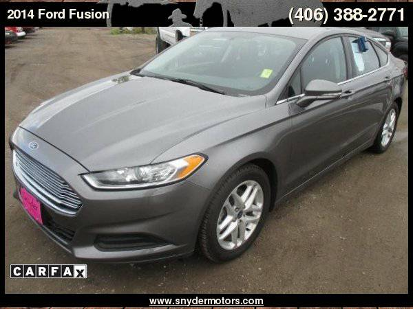 2014 Ford Fusion SE 4dr Sedan, Carfax 1 Owner, Blue Tooth, Auto...
