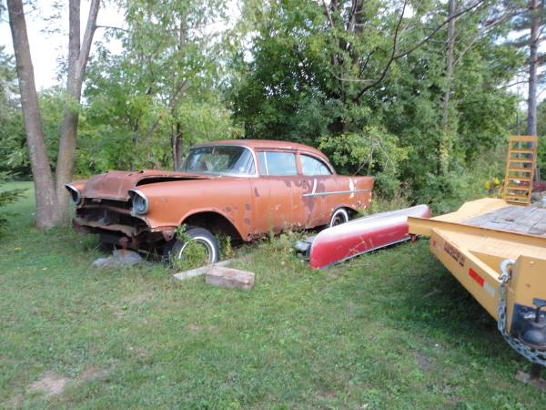 57 CHEVY 2DR. BUSINESS COUPLE very rare