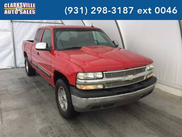 2002 *Chevrolet Silverado 1500* LS 4dr Extended Cab 4WD LB (red)