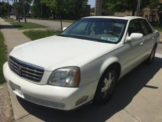 2004 Cadillac Deville Pearl White, Fully Loaded, low miles $2995