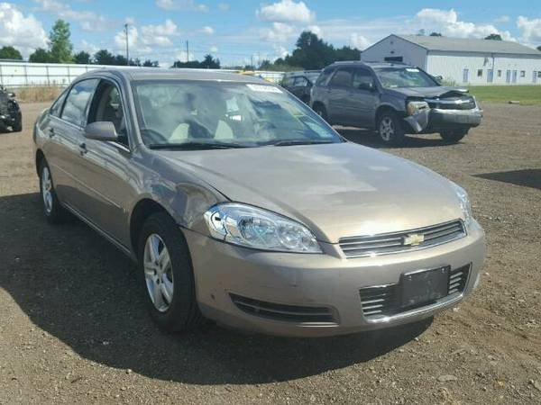2007 CHEVROLET IMPALA LS -Light side damage only $3750 -valued double