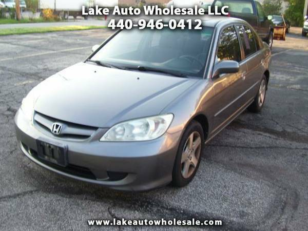 2005 HONDA CIVIC EX 4cyl.-Auto Gas-Saver Moon-Roof Winter-Ready
