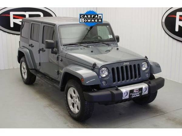 2014 *Jeep Wrangler* Unlimited Sahara (Granite Crystal Metallic...