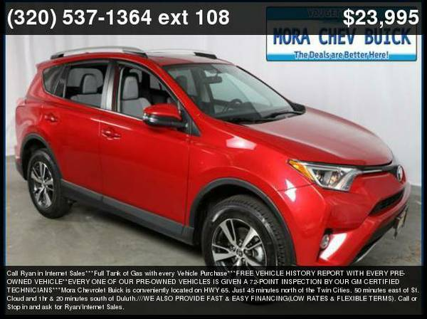 2016 Toyota RAV4 Red