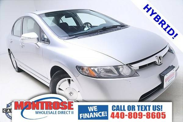 2008 Honda Civic Hybrid Sedan Civic Honda