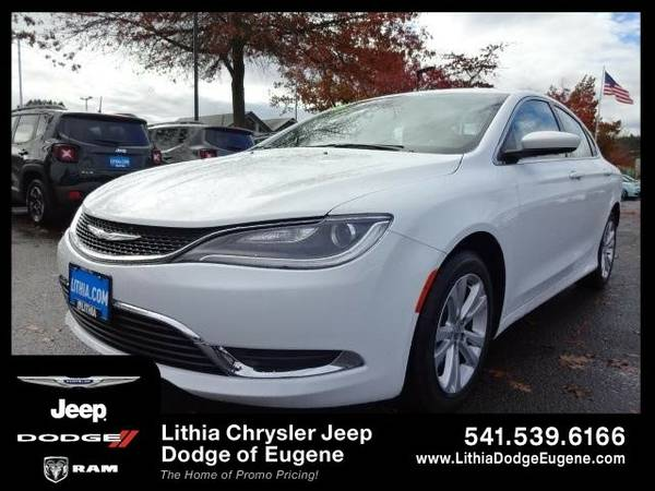 2015 Chrysler 200 LIMITED (You Save $711 Below KBB Retail)