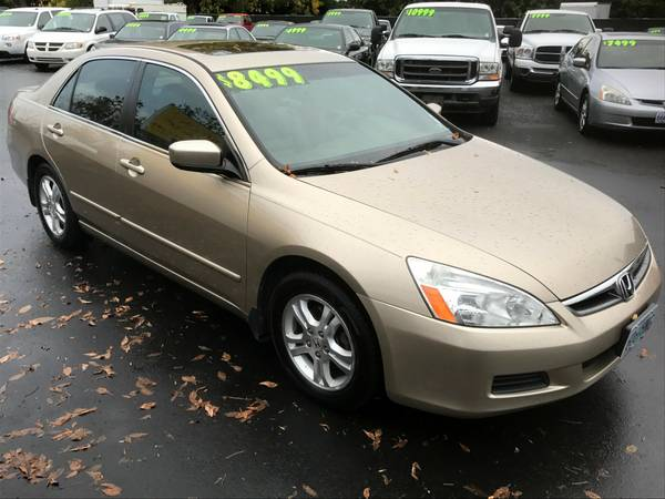 2007 Honda Accord EX-L 4 Cyl VTEC Leather, Moon Roof - $0 Down, $153/m