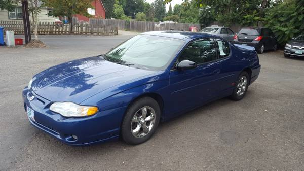 2004 Chevy Monte Carlo SS, 2door, CD, pwr drivers seat