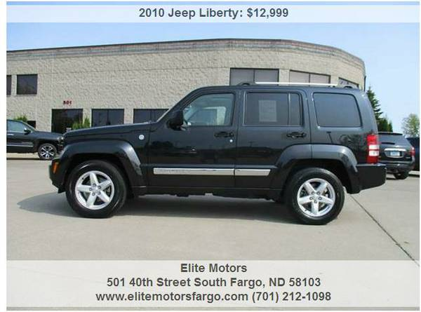 2010 Jeep Libery Limited, 4WD, Leather, Sunroof, Rear Ent. Sharp!