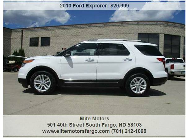 2013 Ford Explorer XLT, 7-Pass., 4WD, One Owner, Perfect!
