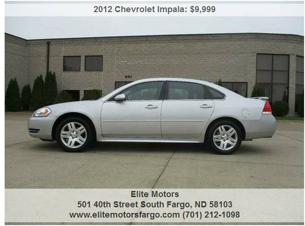 2012 Chevrolet Impala LT, Sunroof, Alloys, Auto Start, Sharp!
