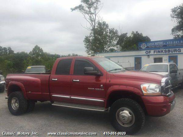 2006 *Dodge* *Ram* *3500* QuadCab Laramie 4X4 6spd MANUAL - CALL/TEXT