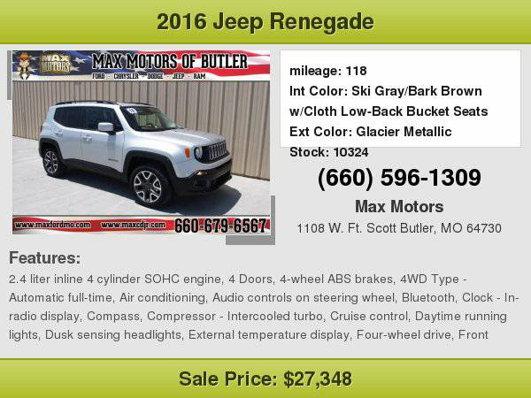 2016 Jeep Renegade Latitude **WE FINANCE**WE LOVE TRADE-INS**