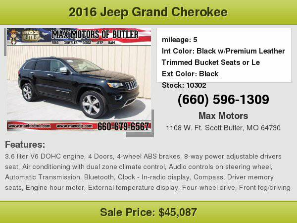 2016 Jeep Grand Cherokee Limited **WE FINANCE**WE LOVE TRADE-INS**
