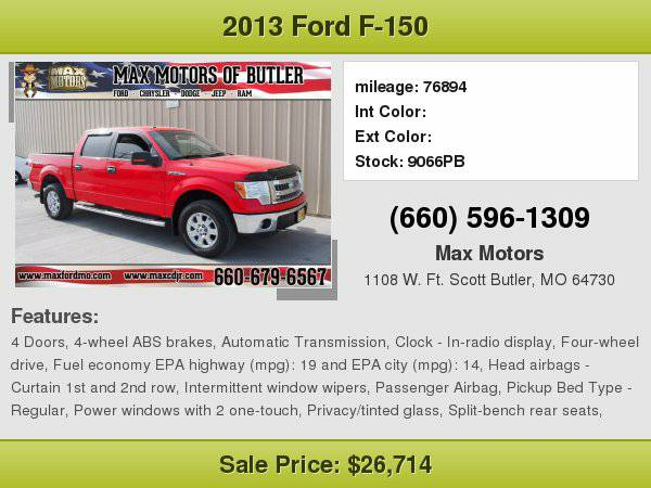 2013 Ford F-150 XLT **WE FINANCE**WE LOVE TRADE-INS**