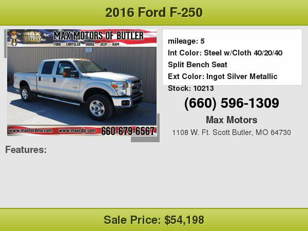 2016 Ford F-250 XLT **WE FINANCE**WE LOVE TRADE-INS**