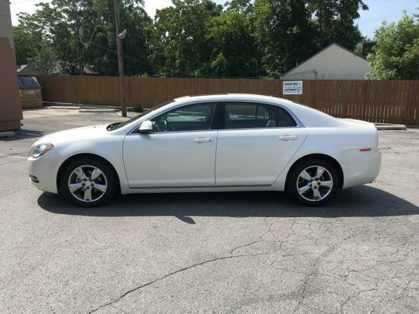 2011 MALIBU LT PEARL WHITE WITH LEATHER/SUEDE ROOF CW 73K! 500 DOWN!