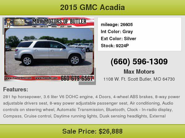 2015 GMC Acadia SLE-2 **WE FINANCE**WE LOVE TRADE-INS**