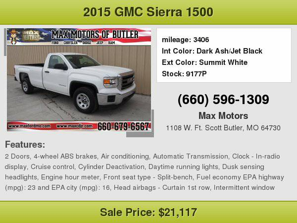2015 GMC Sierra 1500 Base **WE FINANCE**WE LOVE TRADE-INS**