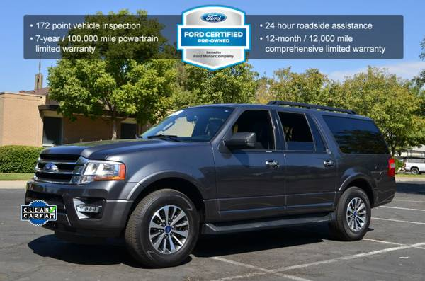 2015 FORD EXPEDITION EL XLT 3RD ROW SUV ECOBOOST TWIN TURBO CLEAN!