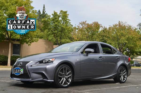2014 LEXUS IS 350 F SPORT MODEL LEATHER NAV MOON 24K MILES SUPER CLEAN
