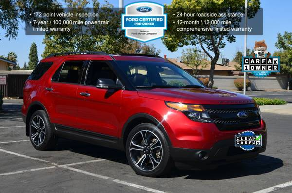 2014 FORD EXPLORER 4WD ECOBOOST SPORT TWIN TURBO 3RD ROW PREMIUM SUV