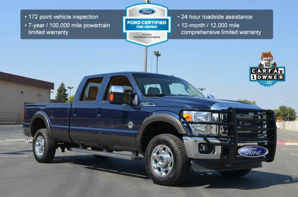 2015 FORD F350 LARIAT 4X4 CREW CAB LEATHER LONG BED LOADED LOW MILES