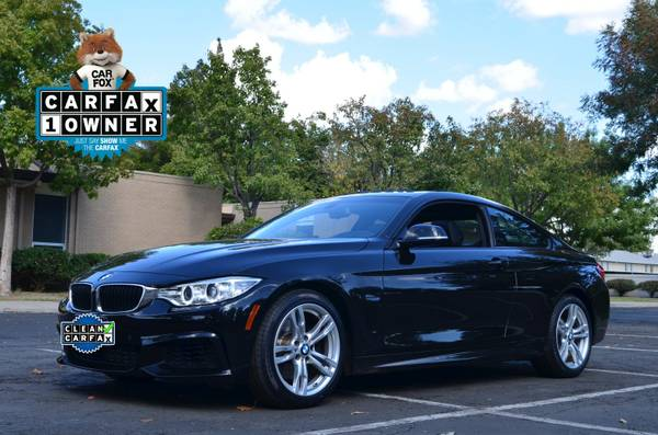 2014 BMW 4 SERIES 428I 2DR COUPE 2.0 TURBO SPORT M PACKAGE BLACK