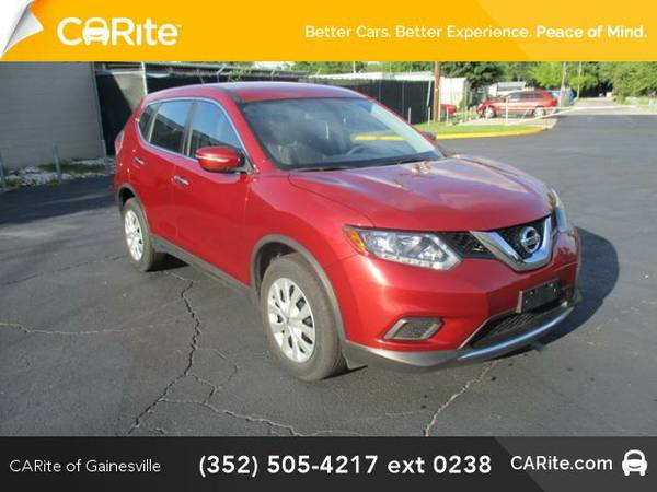 2015 *Nissan Rogue* FWD 4dr S (Red)