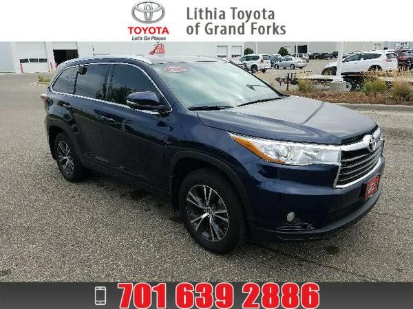 *2016* *Toyota Highlander* *XLE - V6 AWD* BLUE