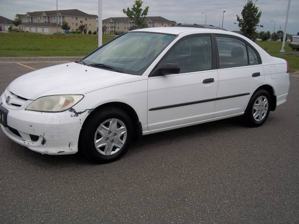 Honda 2004 Civic VP (126XXXmiles) gas saver, new tires, runs very good