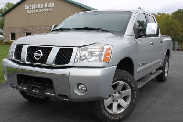 2005 Nissan Titan LE CREW CAB 4x4 ! Htd Lthr! Only 87k Mi! RUST FREE!