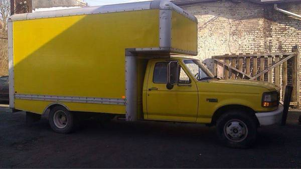 1996 Ford F350 Yellow Truck