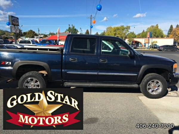2005 GMC SIERRA 1500 SLE 4X4 CREW CAB-- RUNS GREAT!!