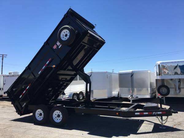 PJ Dump Trailers, Low Profile Dump Trailer DK162-4 16,000 lbs