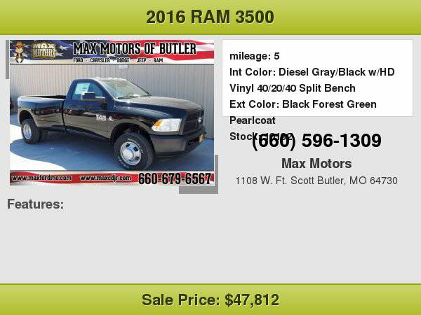 2016 Ram 3500 Tradesman **WE FINANCE**WE LOVE TRADE-INS**