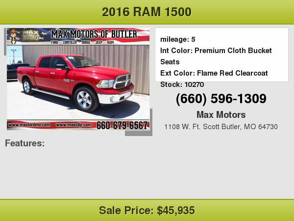 2016 Ram 1500 SLT **WE FINANCE**WE LOVE TRADE-INS**