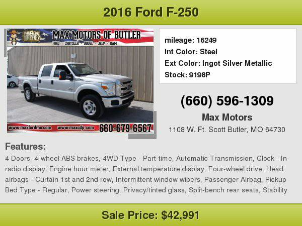 2016 Ford F-250 **WE FINANCE**WE LOVE TRADE-INS**