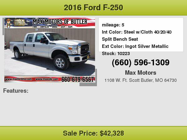 2016 Ford F-250 XL **WE FINANCE**WE LOVE TRADE-INS**