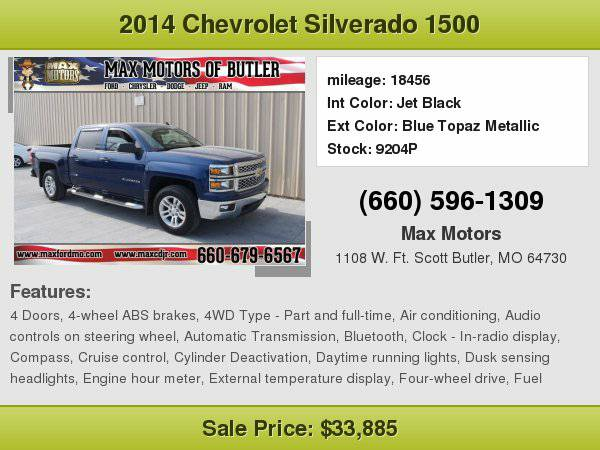 2014 Chevrolet Silverado 1500 LT **WE FINANCE**WE LOVE TRADE-INS**