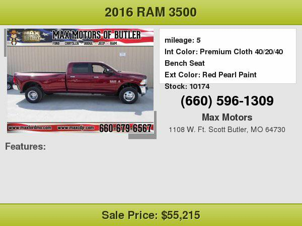 2016 Ram 3500 SLT **WE FINANCE**WE LOVE TRADE-INS**